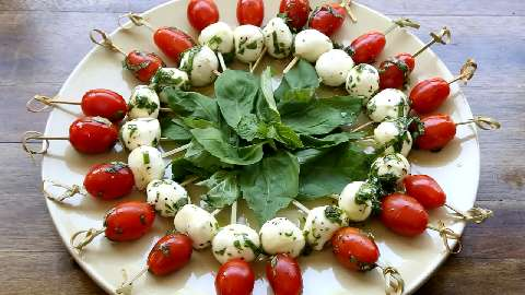 Caprese Appetizer Video Allrecipes Com