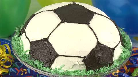 How To Decorate A Soccer Ball Cake Awesome Soccer Ball Cake Video  Allrecipes Decorating Inspiration