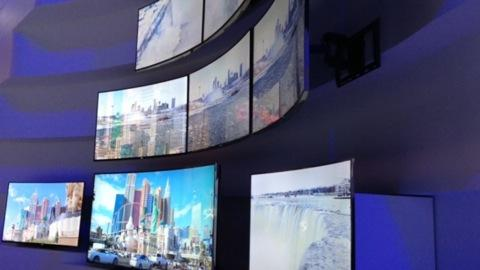 Big-screen TVs at CES 2014