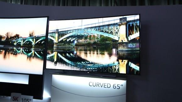 LG curved TV at CES 2014