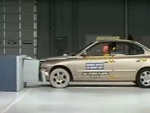 Hyundai Elantra crash test 2001-2006