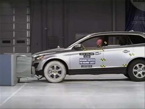 Volvo XC60 crash test 2010-2012