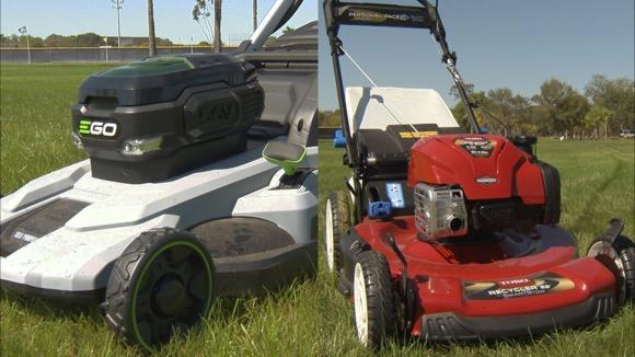 Gasoline & Electric Self-Propelled Mower Face-Off