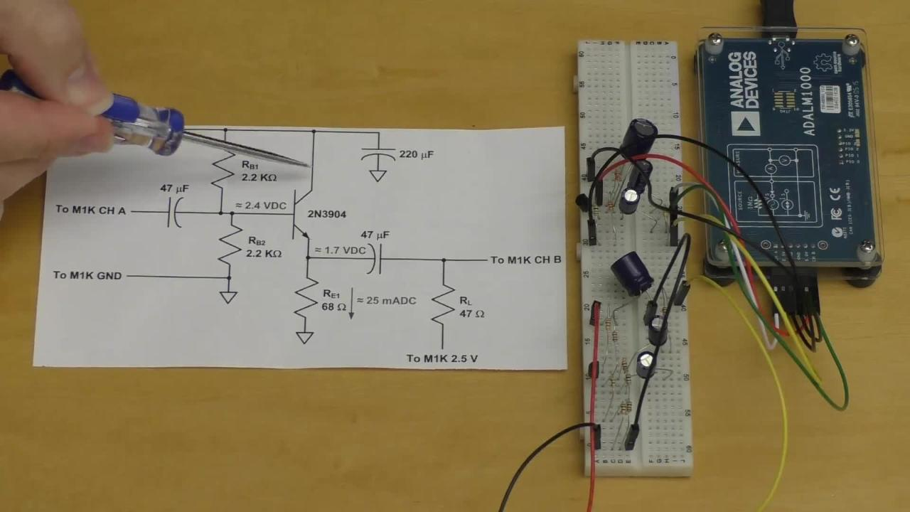 Class A Common Emitter Amplifier Lab With Adalm1000 And Adalp2000 Category Amplifiers Analog Ics Products Tags Follower Amp