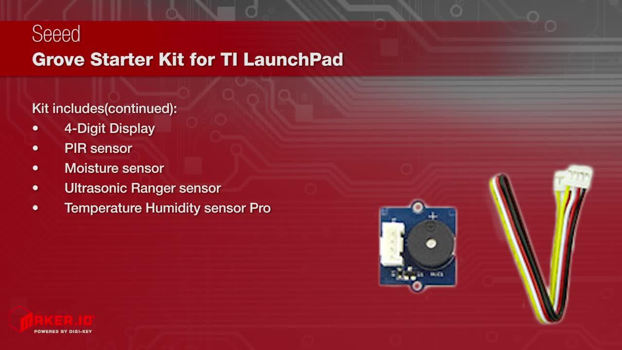 Seeed Grove Starter Kit for LaunchPad | Maker Minute