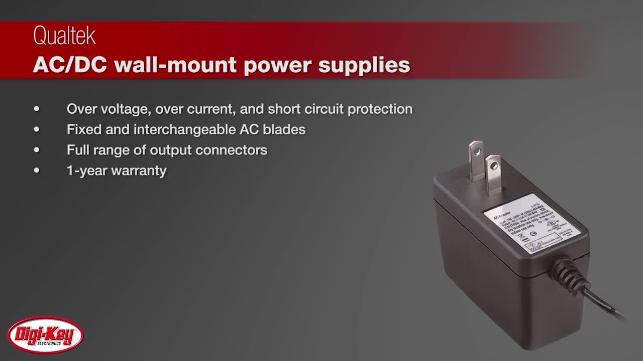 Qualtek AC/DC Wall Mount Power Supplies | Digi-Key Daily
