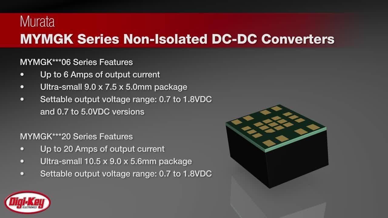 Murata MYMGK Series Non-Isolated DC-DC Converters | Digi-Key Daily