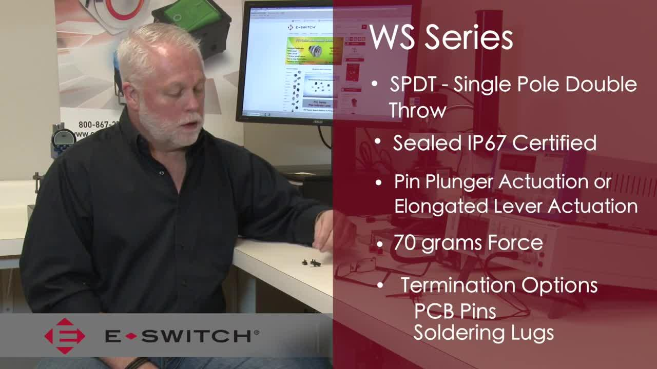 E-Bits: WS Series Sealed Snap Action Switch from E-Switch