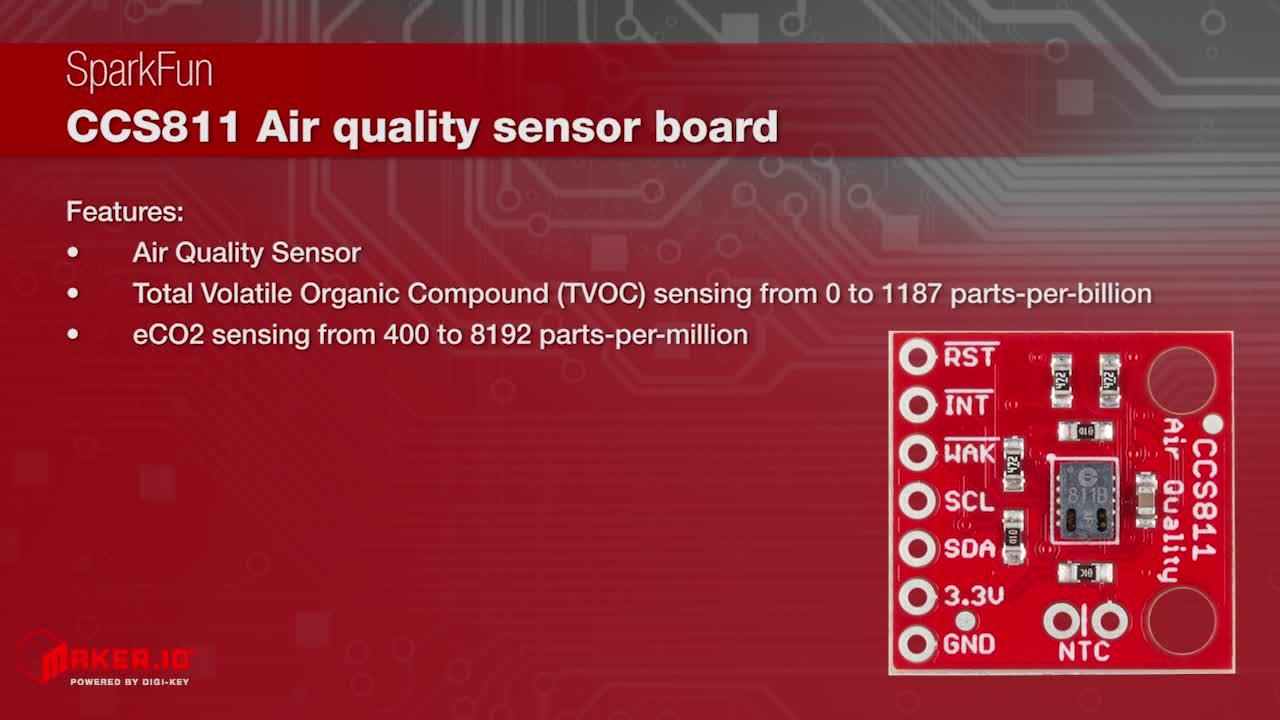 SparkFun CCS811 Air Quality Sensor Board | Maker Minute