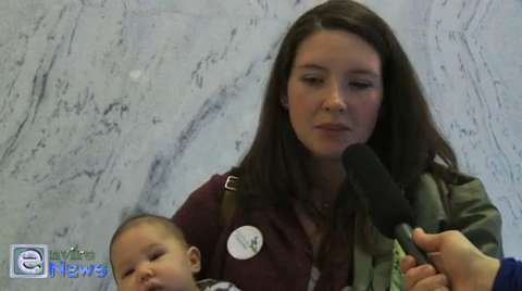 Shelly Marshall at the Utah Mom's for Clean Air Rally on Capitol Hill