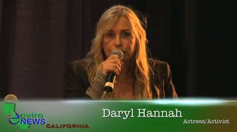 Daryl Hannah Discusses Oil Wars and Alternative Energy Vehicles