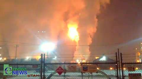 """Nighttime Tesoro Refinery Bypass Caught on Tape by EnviroNews Utah on """"RED AIR"""" Day"""