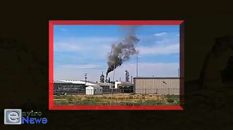 Silver Eagle Refinery Caught Spewing Big Black Toxic Smoke by Citizen Watchdogs
