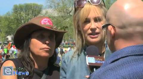 Daryl Hannah and Winona LaDuke on Tar Sands, Keystone XL and Fukushima at the Cowboy and Indian Alliance