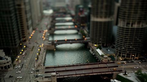 Chicago River Tilt Shift Timelapse