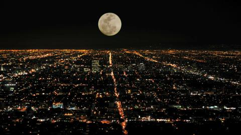 Moon Rising Over La Timelapse