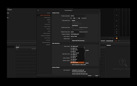 008 Master Project Settings