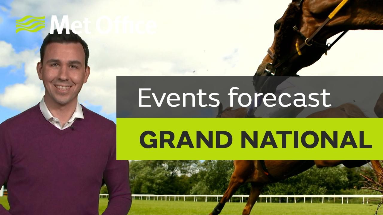 Meteorologist Aidan McGivern takes a look at the forecast for the rest of Ladies' Day and for the Grand National itself on Saturday.