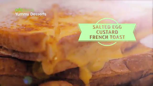 Salted Egg Custard French Toast | Yummy Dessert