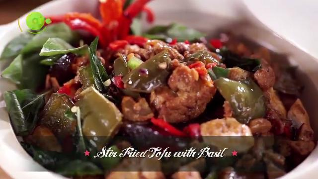 Stir Fried Tofu with Basil | Family Kitchen with Sherson (S2)