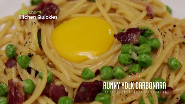 Runny Yolk Carbonara | Kitchen Quickies