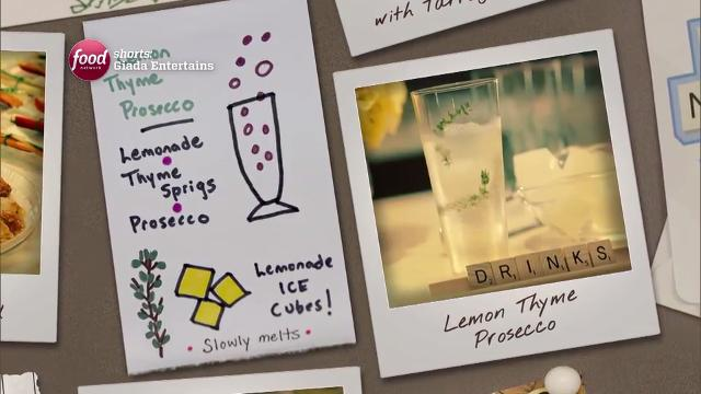 Lemon Thyme Prosecco | Giada Entertains