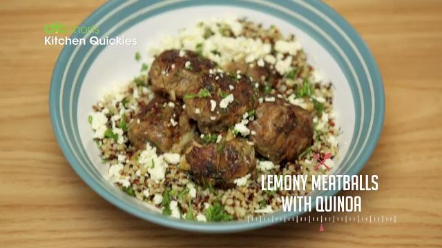 Lemony Meatballs with Quinoa | Kitchen Quickies