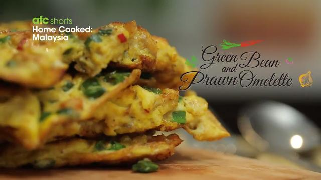 Green Bean and Prawn Omelette | Home Cooked: Malaysia