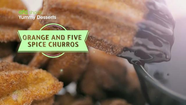 Orange and Five Spice Churros | Yummy Desserts