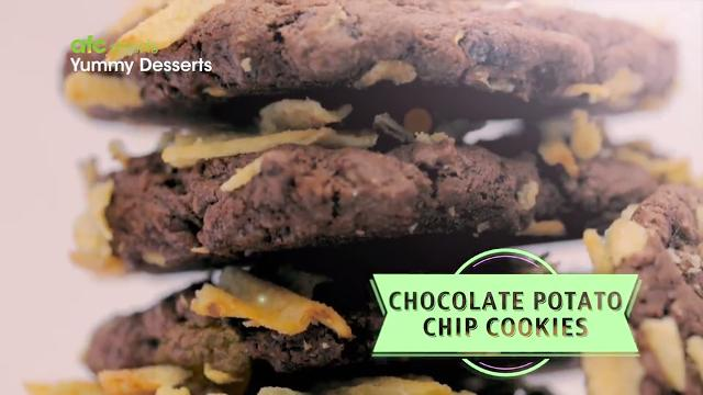 Chocolate Potato Chip Cookies | Yummy Desserts