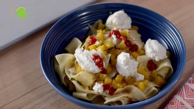 Pappardelle Pasta with Squash, Ricotta & Sage | Kitchen Treats with Anna Olson