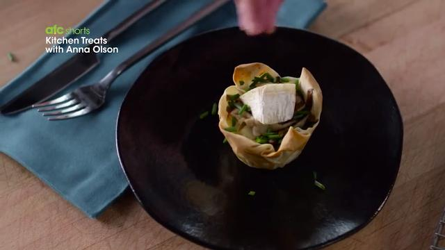 Mushroom, Potato & Brie Tarts | Kitchen Treats with Anna Olson