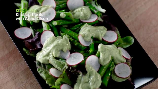 Asparagus Salad with Creamy Avocado Dressing | Kitchen Treats with Anna Olson