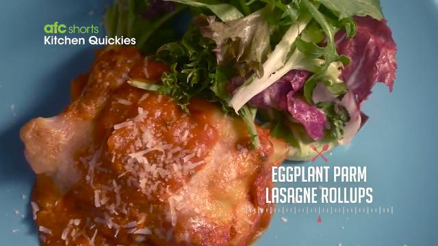 Eggplant Parm Lasagne Rollups | Kitchen Quickies