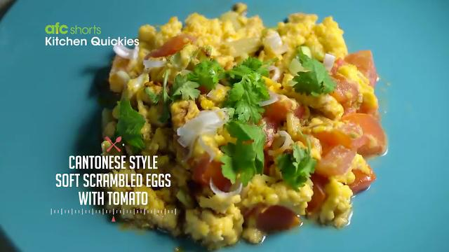 Cantonese Style Soft Scrambled Eggs with Tomato | Kitchen Quickies