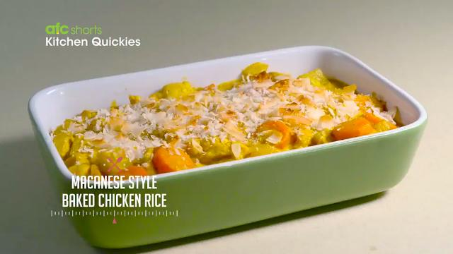 Macanese Style Baked Chicken Rice | Kitchen Quickies