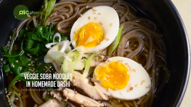 Veggie Soba Noodles in Homemade Dashi | Kitchen Quickies
