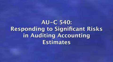 New Clarity Standards: AU-C 540: Responding to Significant ....