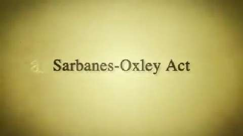 Backstory: Sarbanes-Oxley Act