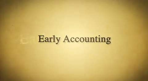 Backstory: Early Accounting