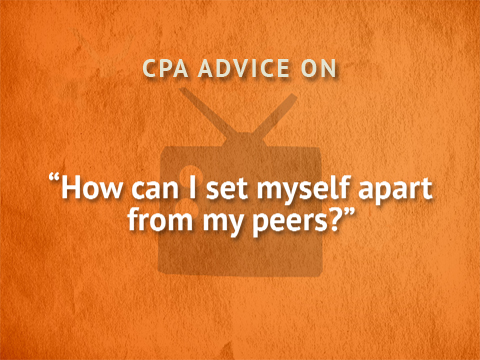 TWTCPA: How can I set myself apart from my peers?