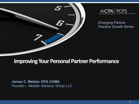 Emerging Partner & Practice Growth - Improving Your ....
