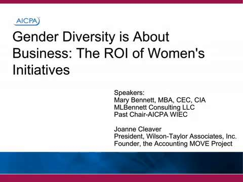 Gender Diversity is About Business - The ROI of Women's ....
