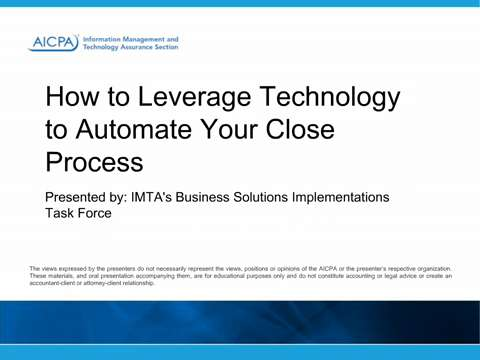 How to Leverage Technology to Automate Your Close Process