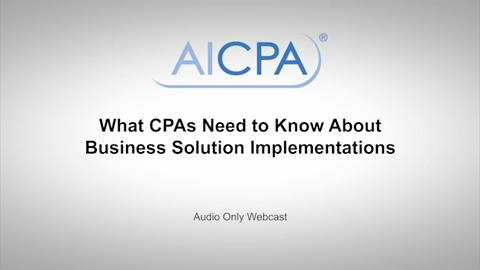 What CPAs Need to Know About Business Solution ....