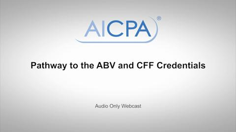 Pathway to the ABV and CFF Credentials