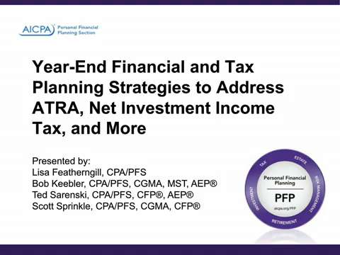 Year-End Financial and Tax Planning Strategies to Address ....