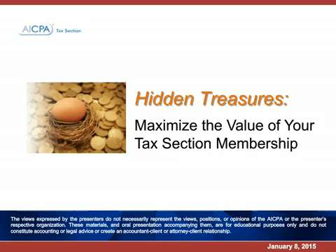 Hidden Treasures - Maximize the Value of Your Tax Section ....