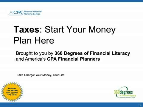 Take Charge - Your Money. Your Life. 2015 Taxes - Start ....
