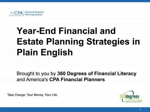 Year-End Financial and Estate Planning Strategies in Plain ....